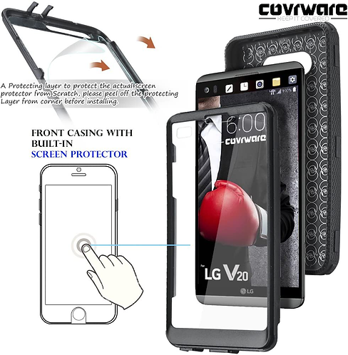 COVRWARE LG V20 Full-Body Armor Cover Case With Built-in Screen Protector New