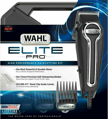 Wahl Elite Pro Hair Clippers High Performance Haircutting Kit 21 Pcs #79602 NEW