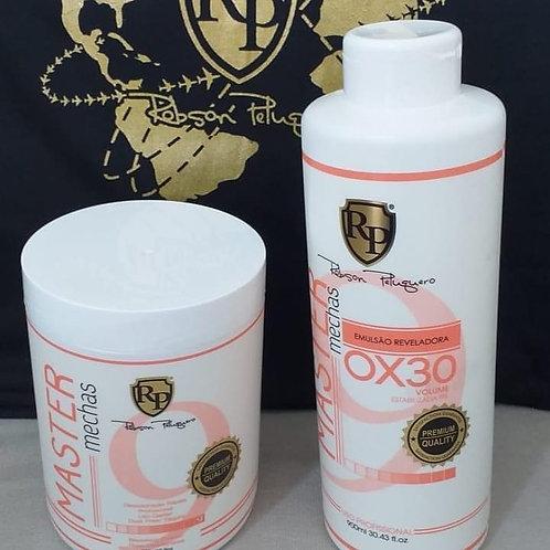 Kit pó descolorante + água oxigenada RP