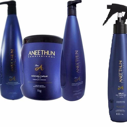 Aneethun Linha A Kit Hidratação Com Spray Multibenefícios