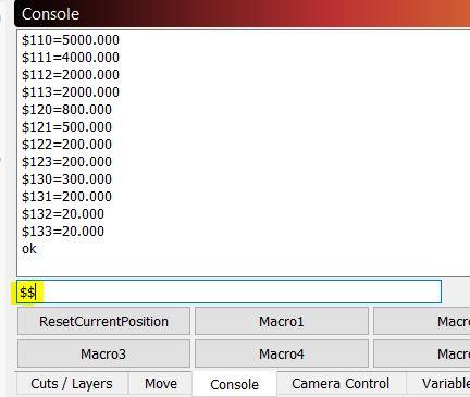 Grbl Settings 32bit Nano