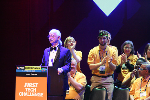 Dr. Woodie Flowers at the Awards Ceremony