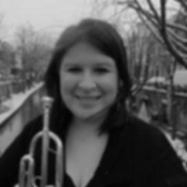 Melanie Garrett trompettist, trompetles Den Haag