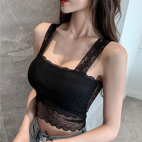 Lace Beauty Back Camisole Wrap-Around Base Versatile Sexy U-Back