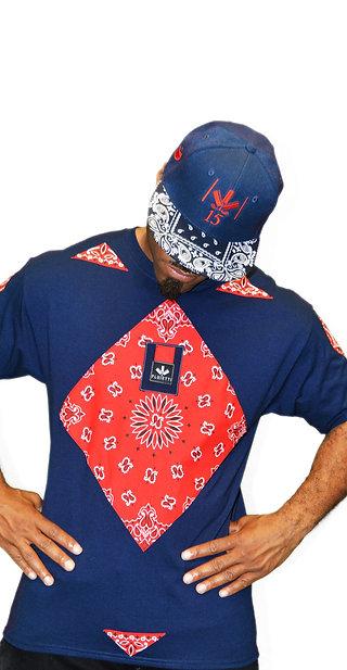QUTEX RED/NAVY BLUE & HAT