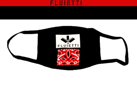 Red on black mask