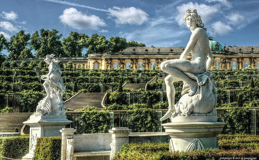 ארמון וגני סנסוסי בקיץ