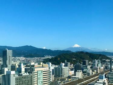 富士山見れました(^^)