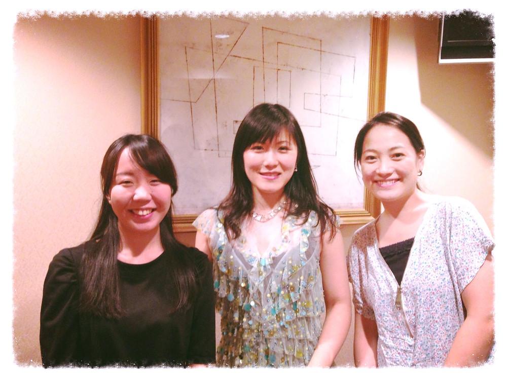 終演後:オルガニスト3人娘