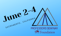 "Time to RSVP to the June 2-4 Professors Seminar - Text ""ProfSeminar"" to 91-999"