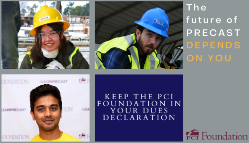 Remember the PCI Foundation when filling out your dues declaration