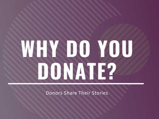Why do you donate?