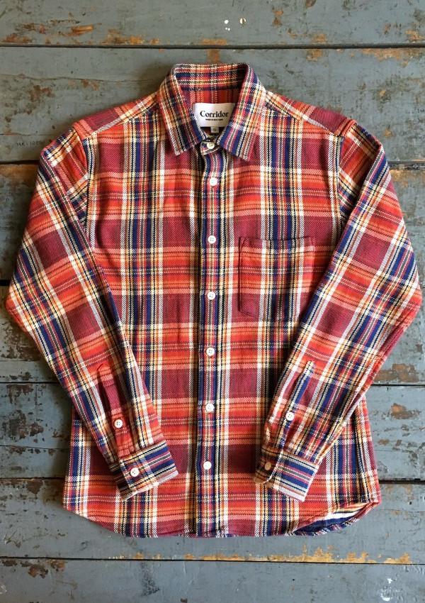 corridor-flannel-shirt-blanket-plaid-red