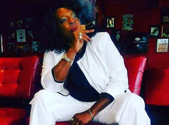 Shirley McClellan owner of Fire and Smoke Cigar in Parkville, MD