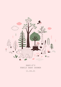 collection: Girly Woodland Baby Shower