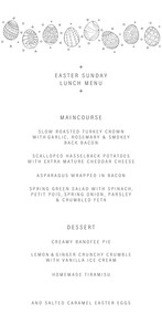 collection: Easter Menu