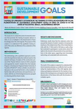 Proposta extensionista sobre a Agenda 2030 apresentada no Fórum Mundial de Sustentabilidade