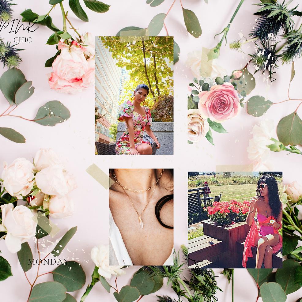Feminine and Floral Mood Board