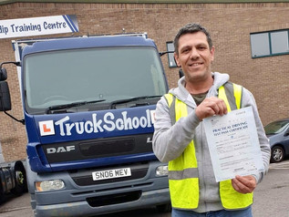 Craig Orford passed his class 2 test FIRST TIME!