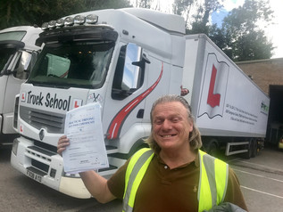 Alan Wood passed his class 1 test FIRST TIME!