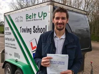 🔴 TEST PASS! 🔴  A car and trailer pass for Brett Irwin!