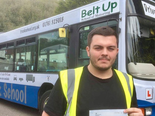 Oliver Leighfield passed his cat D test FIRST TIME!