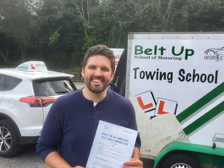 Paul Adams passed his car and trailer test FIRST TIME!