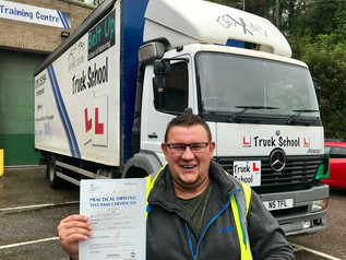 Darran Lawes passed his class 2 test!