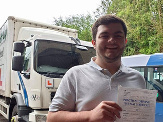 Oliver Leighfield passed his class 2 test!