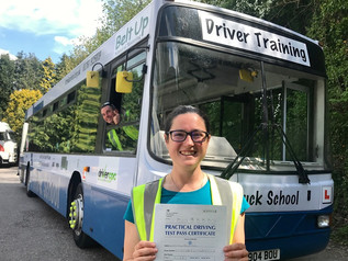 Seren Stacey-Jones passed her bus test FIRST TIME!