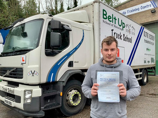 Matthew Swash passed his class 2 test FIRST TIME!