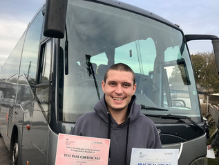 Sam O'Leary passed his Cat D and Mod 4 CPC tests FIRST TIME!