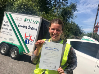 🔴 TEST PASS! 🔴  Congratulations to Kerry Milverton for the FIRST TIME car and trailer pass!