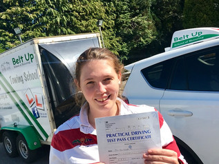 Alice Pitt passed her car and trailer test FIRST TIME!