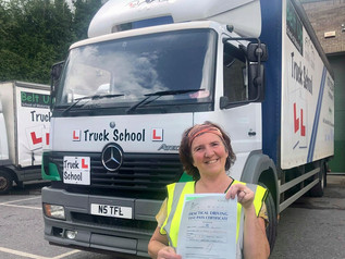 Carolyne Bowler took and passed her class 2 test at the FIRST TIME attempt today!