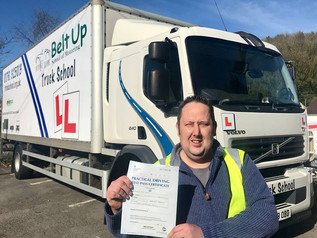 A class 2 test pass for Martin Tully!