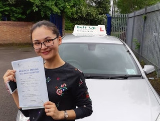 🔴 TEST PASS! 🔴  Nina Bawuerjiang passed her driving test!