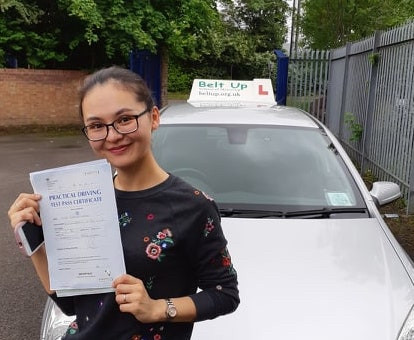 Congratulations, driving test pass