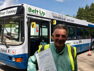 Alex Mitchelmore passed his cat D test FIRST TIME!