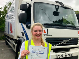 Emma Manton passed her class 2 test FIRST TIME!