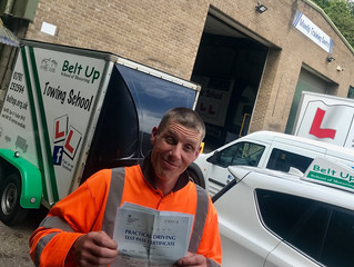 🔴 TEST PASS! 🔴  Chris Hyatt passed his car and trailer test FIRST TIME!