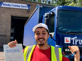 Luke Laurent passed his class 2 test FIRST TIME!