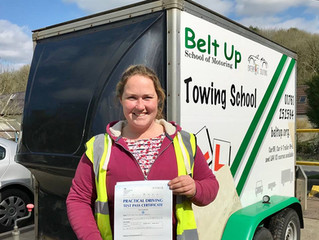 🔴 TEST PASS! 🔴  Martha Morgan passed her car and trailer test FIRST TIME!