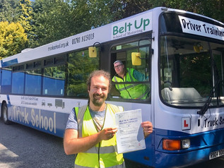 Joshua Cottrell passed his bus test today!