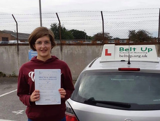 🔴 TEST PASS! 🔴  Anja Pike passed her driving test!