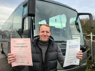 Tony Pow passed his Cat D and Mod 4 test FIRST TIME!