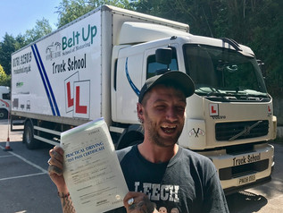 Adam Hackett took and passed his class 2 test today!