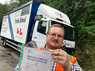 Andrew Adams passed his class 2 test!