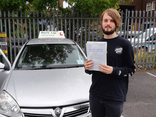 🔴 TEST PASS! 🔴  Congratulations Callum Hedley for passing his driving test!