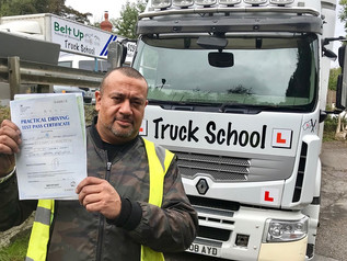 Glenville Richardson passed his class 1 test FIRST TIME!